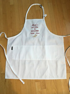 New, Mom's Chef's Apron Seasoned With Love
