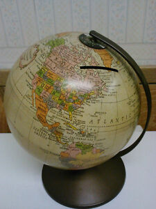 Vintage Revere Lithograph Globe Bank by Replogle
