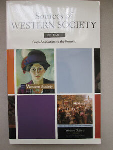 SOURCES OF WESTERN SOCIETY VOLUME II West Island Greater Montréal image 1