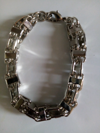 Silver filled luxury 3d cage bracelet new 8to9inches