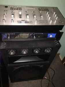 DJ Speakers, amplifier and mixer for sale