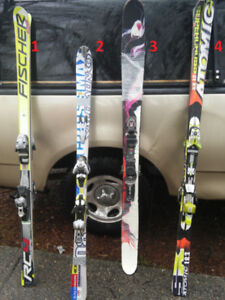 Skis - Rossignol, Atomic, Fischer, Salomon