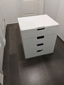 White NORDLI 4-drawer chest