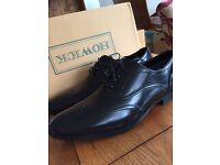 Men's hi shine brogue black shoes
