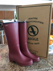 Bottes de pluie AIGLE modèle Miss Juliette gr. 38 (7-7 1/2)