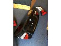 Bmw e90 sapphire black tailgate boot lid trunk lid with complete tail light