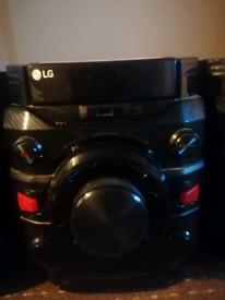 LG sound system black