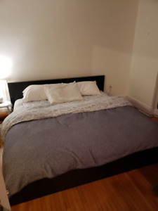Ikea King Size bed and mattress