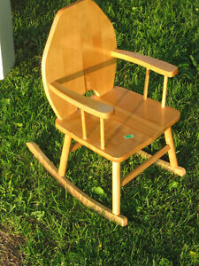 Small Child's Rocking Chair Real Wood