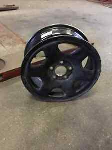 "16"" 5x114.3 Black Rims Great for Winter! Stratford Kitchener Area image 1"