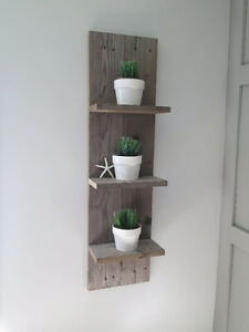 Reclaimed Wood Spine Shelf