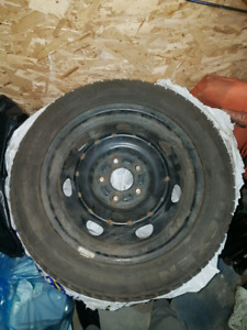 Winter tires 205/55R16 3 tires with steelies included 150$