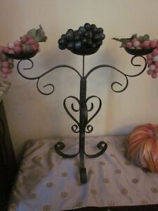 Large Black Heavy Wrought Iron Candleabras only $60 Each