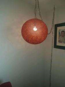 Red/burgandy swag lamp