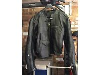 Frank Thomas Kinetik Sport Leather Motorcycle Jacket