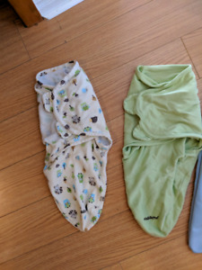 Various swaddles for newborn (7 lbs) to 20 lbs