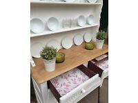White Vintage Dresser ~ Priory Dresser ~ Shabby Chic Sideboard