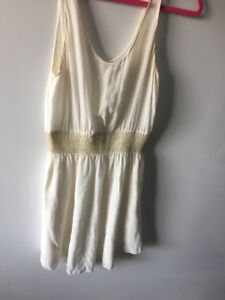 White and Gold Aritzia Dress