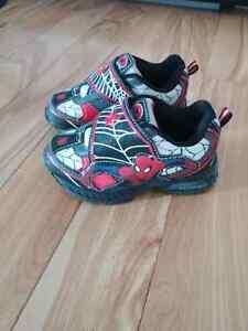 Light up spiderman sneakers