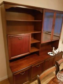 Solid Mahogany Display Cabinet/ side board