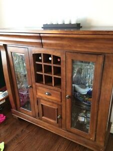 Buffet, dining table and 6 chairs - solid wood