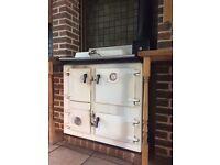 Rayburn White multi fuel stove