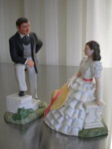 China figurines:   Rhett & Scarlett by Avon