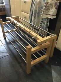 Matching Modern shoe rack and coat hanger set
