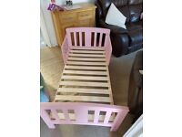 Pink toddler bed for sale £25
