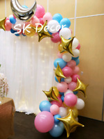 Party decorations,balloons, columns, centrepieces