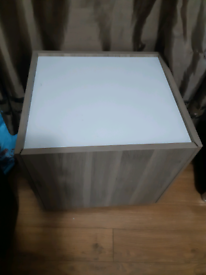 Solid storage cube/coffee table