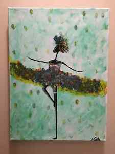 Dancing Girl 12 x 16 Canvas Painting
