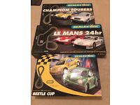 3 full sets of Scalextric