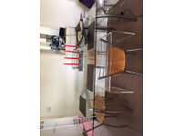 Dining table and 4 chairs to match