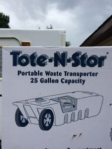 TOTE -N-STORE WASTE TRANSPORTER FOR CAMPER/RV