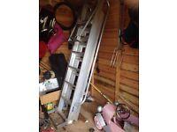 Aluminium sliding loft ladder