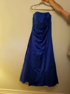 Royal Blue Strapless Formal Dress - only worn once!!