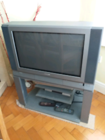 Toshiba 28inch Colour TV on stand with remote control