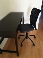 IKEA work desk with chair