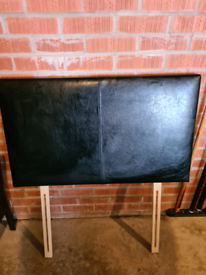 Single faux leather headboard