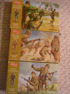 3 Boxes of Vintage Airfix 1/32 plastic soldiers. $20 each