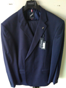 Mens suit jacket 56L pant 46 blue