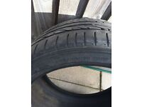 Tyre - Bridgestone Potenza 'run flat'