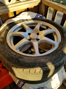 """16"""" rims with summer tires 4x100"""