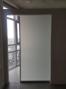 "37"" Interior Glass Sliding Door - MINT condition hardware incl."