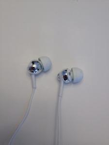 Sony White and Chrome Headphones