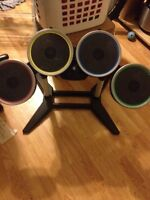 Drums for the wii. No peddle or sticks (easy to get tho)