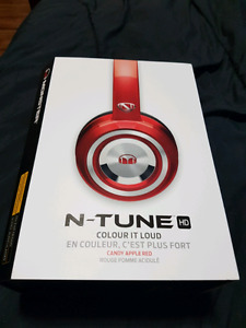 Monster N-Tune HD candy apple red wired headphones
