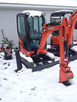 Demo Kubota KX018 Cab Demo. Only 8 hrs!  Practially New