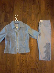 Fashion, Stylish jeans 2 pieces set, size L